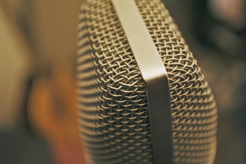 microphone close-up image